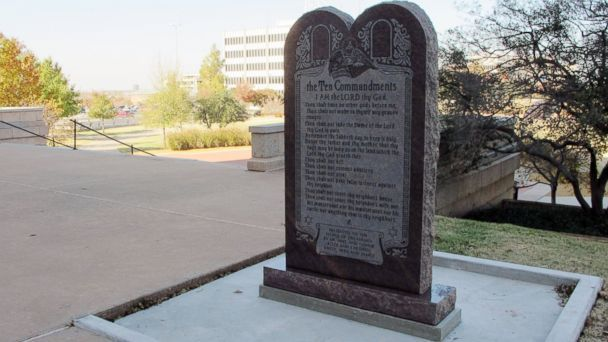 Is a satanic monument and the ten commandments equal?