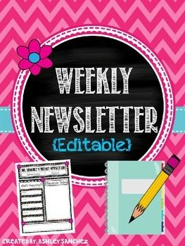 FREE Weekly Newsletter Template {Editable}