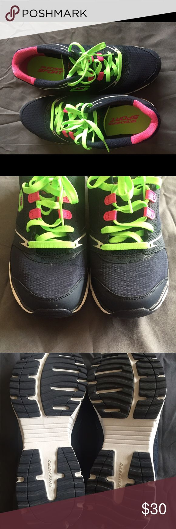 Skechers Flex Sole Skechers flex sole SPORT!  Awesome like new condition!  Pretty colors too!! Skechers Shoes Sneakers