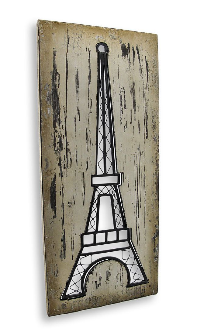 Wood and Metal Cut Out Eiffel Tower Wall Art | eBay