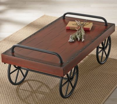 A Coffee Table By Leedu0027s, Looks Like An Old Railroad Baggage Cart