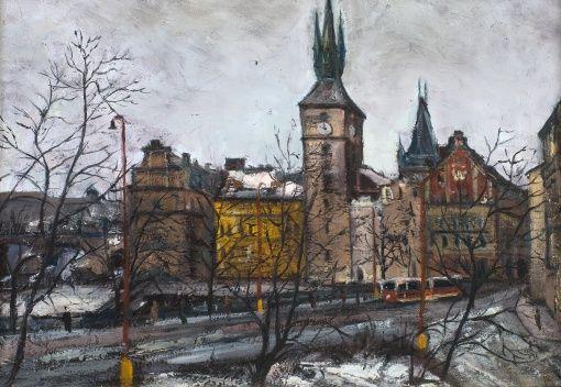 MILAN SCHILLER Zima u Trnkových mlýnů