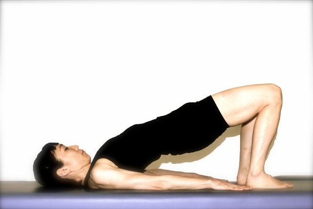 The Pilates Shoulder Bridge will Give you a Strong Back and Tight Buns.: The Pilates Shoulder Bridge Step 1