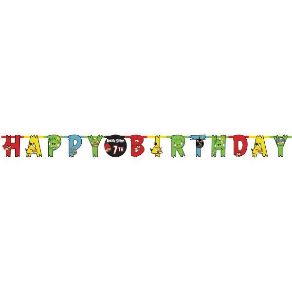 Angry Birds Jumbo Letter Banner Add an Age Birthday Party Decoration:Amazon:Toys & Games