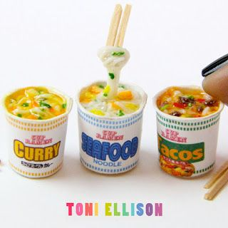 Tutorial and printable cups -ramen soup