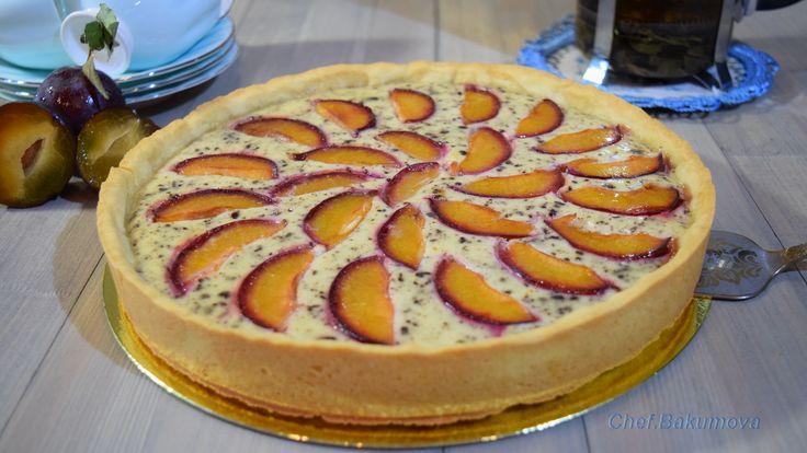 Пирог с рикоттой, шоколадом и сливами. Видео