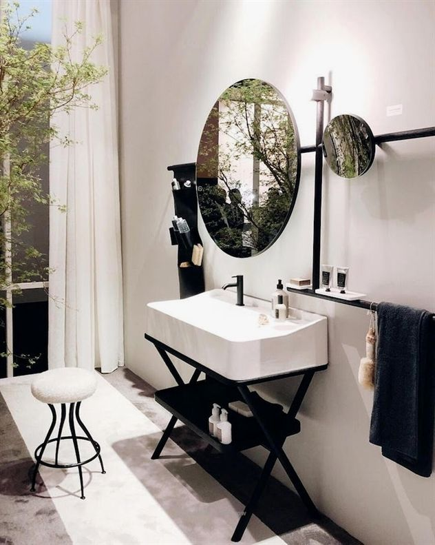 Milan Design Week 2018 Bathroom Trends Black Is The New Brass Bathroom Trends Modern Bathroom Decor Bathroom Inspiration Decor