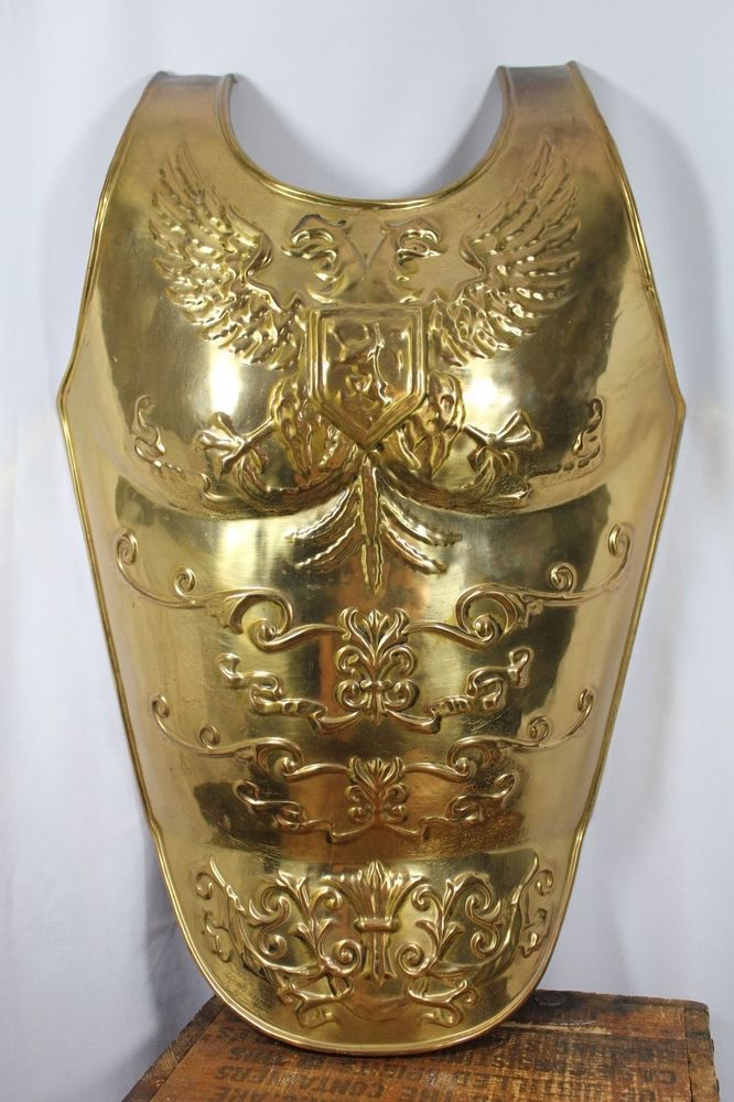 Chest Armore Gold Metal Knight Game Thrones Medieval Gladiator Halloween Costume #Armor