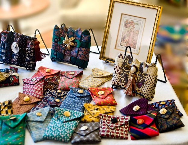purses made from mens neckties | Purses, Belts, Small Cases made from Men's Ties