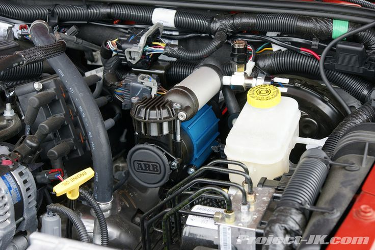 Arb High Output On Board Air Compressor Under The Hood Jk