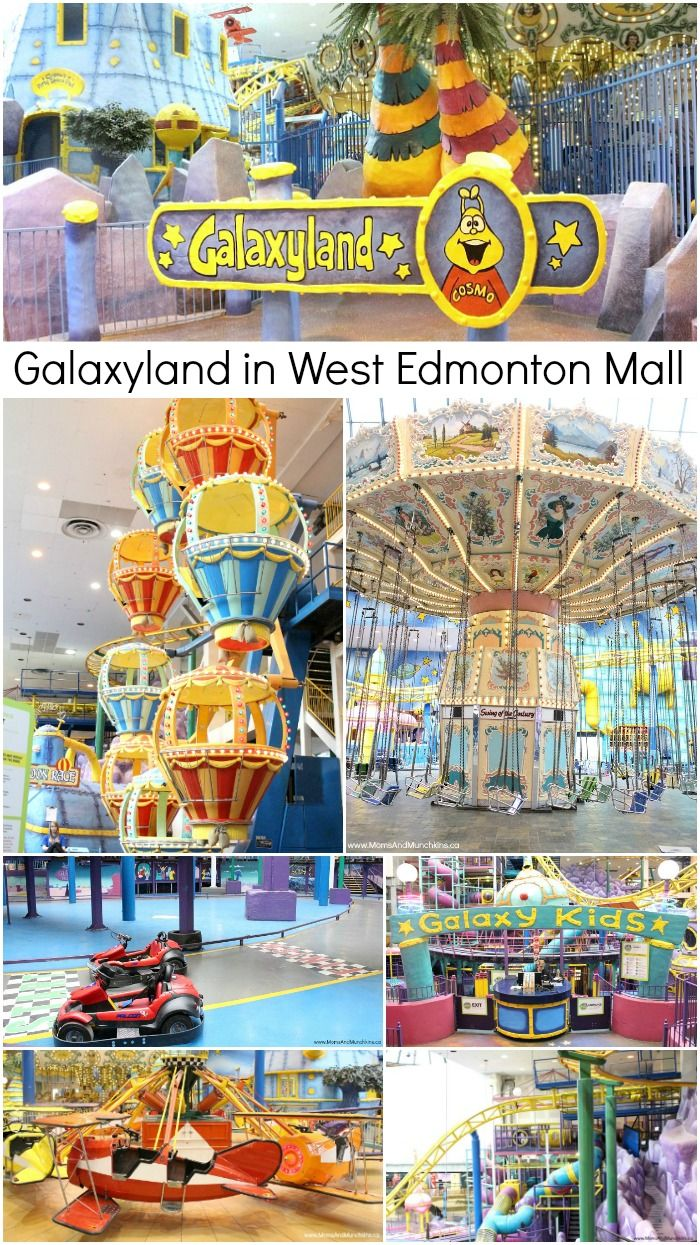 Galaxyland in West Edmonton Mall - the world's largest indoor amusement park with over 24 rides and attractions. A great family vacation idea!