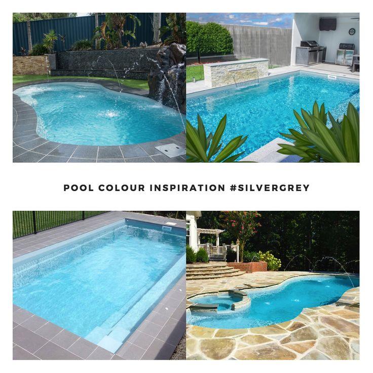 Leisure Pools Smart Colour Range - Silver Grey  #colours #inspiration #swimmingpools #silver #grey #pools #design #best #inspo #summer #life