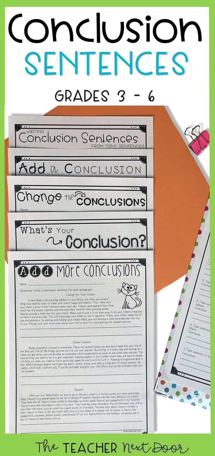 Conclusions In Paragraph Writing For 3rd 6th Grades Paragraph Writing Writing Conclusions Paragraph Writing Worksheets [ 1558 x 736 Pixel ]