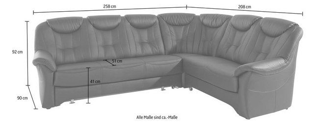 Corner sofa, optionally with bed function Upholstered corner with spring core   – Products