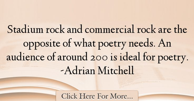 Adrian Mitchell Quotes About Poetry - 54724