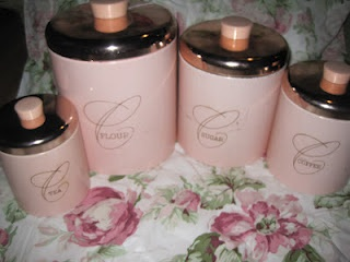 pink kitchen canister set best 25 vintage canisters ideas on vintage 21281