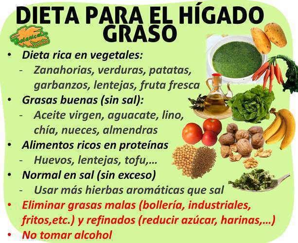 Higado graso dieta y cuidados