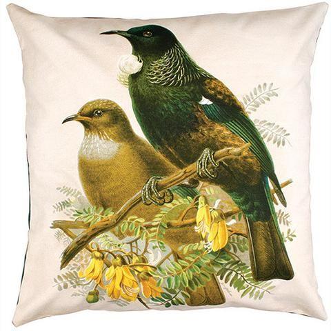 Tui Bird Prestige Cushion Cover | NZ New Zealand - Buy Online - Gift Ideas for Christmas, Birthday & Anniversary | The Red Dog Gift Shop | Motueka, Nelson