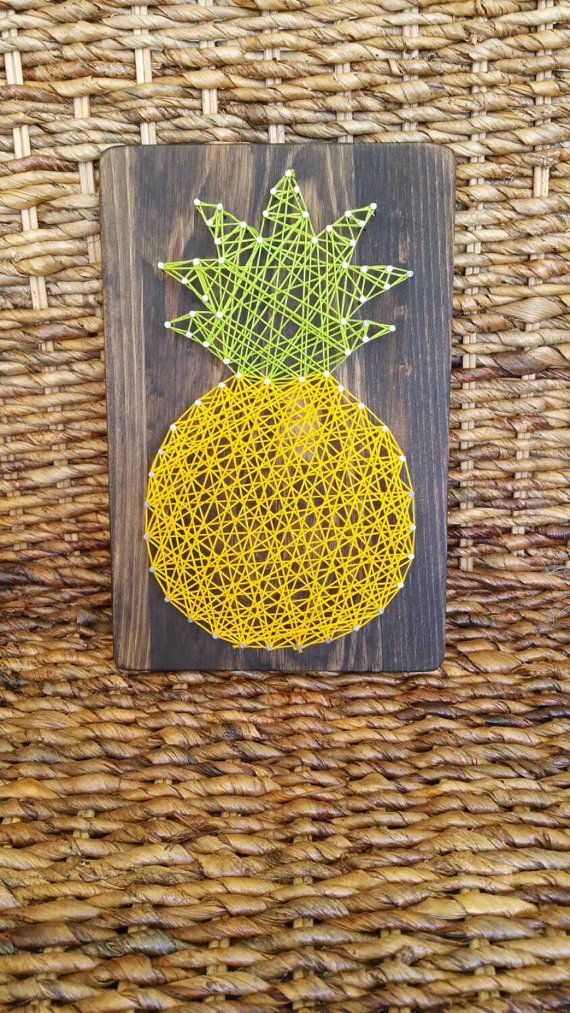 Give the gift of Hawaiian home décor with this pineapple string art sign. Hawaii is home to the famous DOLE Pineapple Plantation. Brighten up any