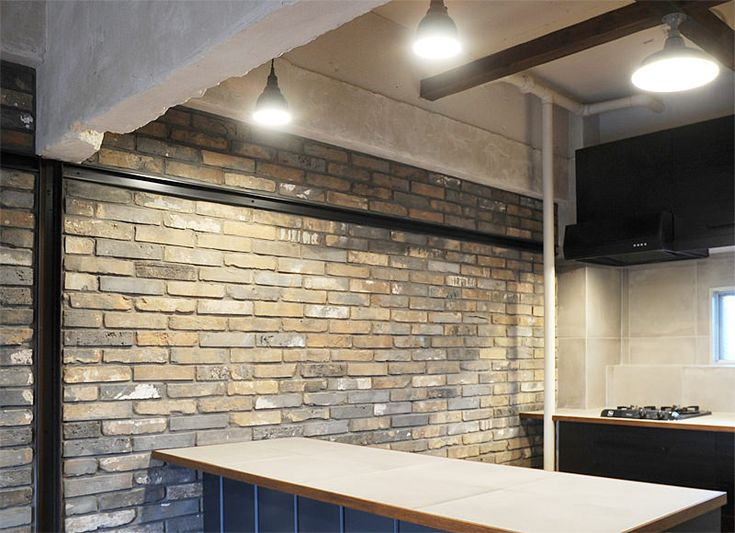 #リノベーション #キッチン おしゃれなキッチンスタジオのような雰囲気