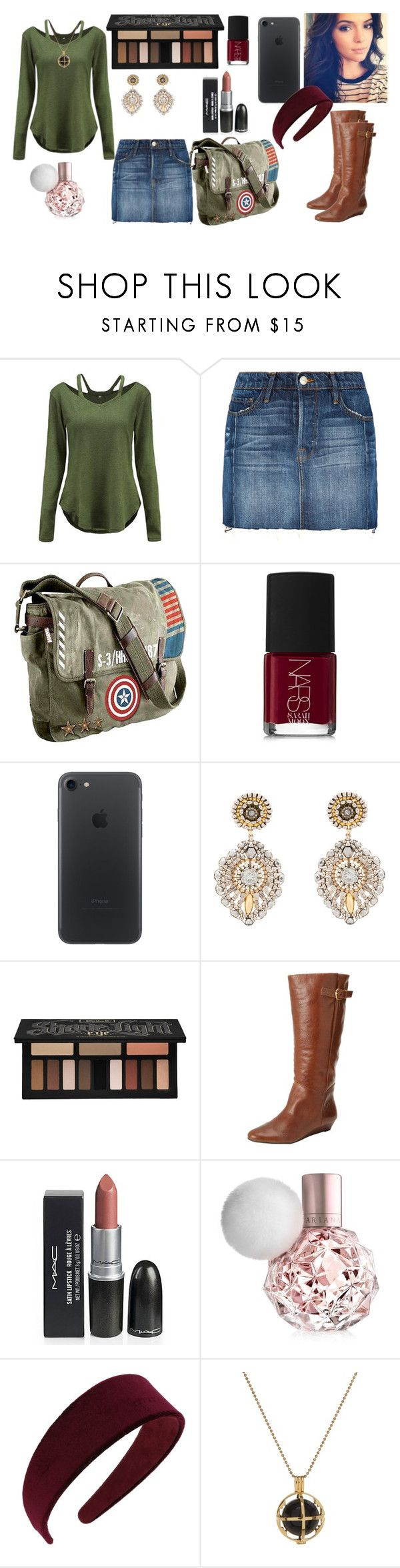 """""""Date Night #14"""" by emmie17dd ❤ liked on Polyvore featuring Frame, Marvel, NARS Cosmetics, Miguel Ases, Kat Von D, Steve Madden, Miss Selfridge and Kiki Minchin"""