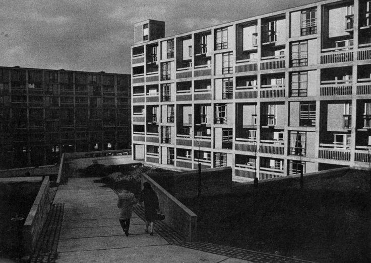 Park Hill Estate Sheffield England 1961 Jack Lynn