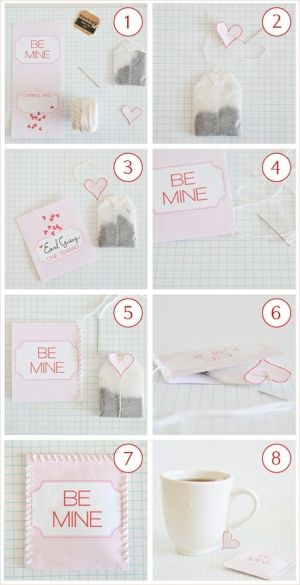 DIY tea Valentine PD