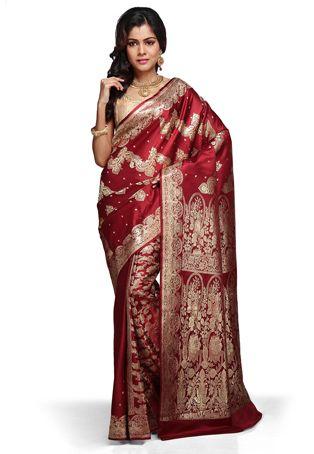 Red banarasi.. Perfect for the Bengali bride