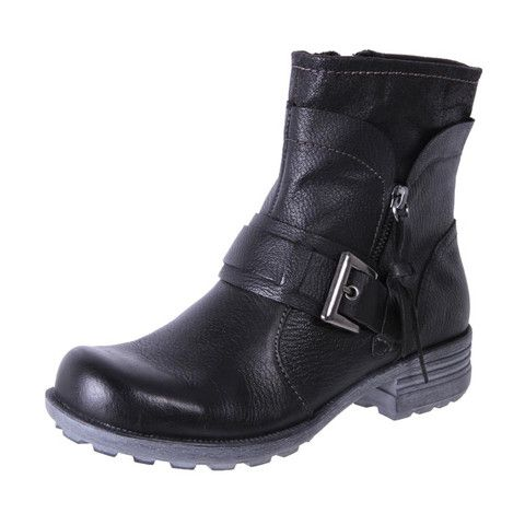 Planet Shoes Womens Comfort Leather Ankle Boots Gaga Black | The Shoe Link