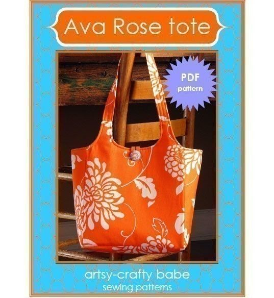 Tote bag DIYSewing Projects, Rose Totes, Ava Rose, Bags Pattern, Totes Bags, Totes Pattern, Artsy Crafty, Crafty Babes, Sewing Patterns