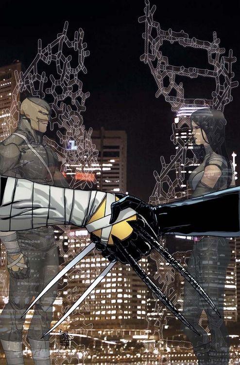 Dakken and X-23 by Giuseppe Camuncoli and Marte Gracia