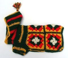 free granny square dog jacket - Google Search