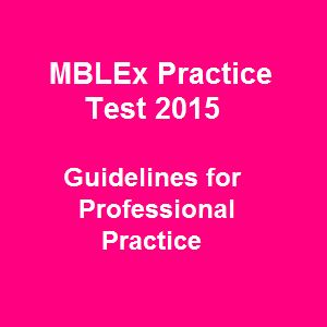 What really pick out 40 MBLEx Practice Test 2015 Free Questions on Guidelines for Professional Practice is how those MBLEx practice questions and answers convey complex information on massage therapy and bodywork in a straight-to-the-point manner. Our free available MBLEx practice test questions are picked up from the national MBLEx state exams to aid you so much in familiarizing the exam condition.