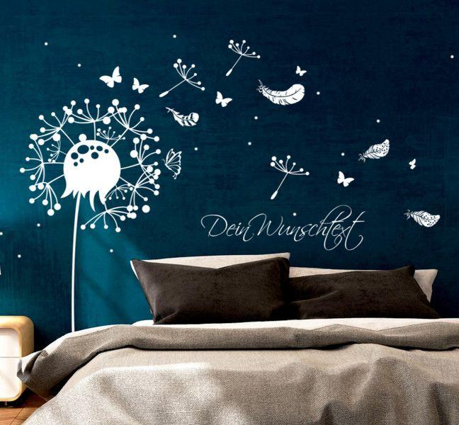 dawanda wandtattoo pusteblume reuniecollegenoetsele. Black Bedroom Furniture Sets. Home Design Ideas