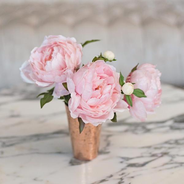 Delightful Luxury Artificial Fake Silk Flowers Light Pink Peony Lifelike Realistic  Faux Flowers Buy Online From Amaranthine