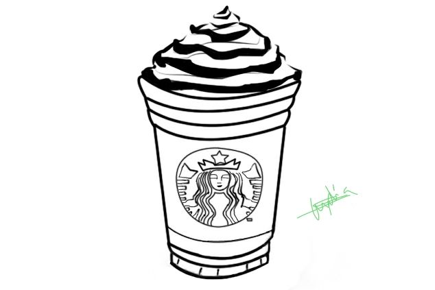 Starbucks Cup Coloring Pages