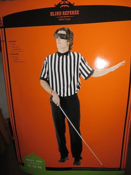 Blind referee adult costume photos 574