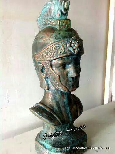 Soldado Romano, pátina de bronce.