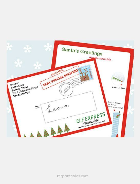 Best  Santa Reply Letters Ideas On   Santa Address