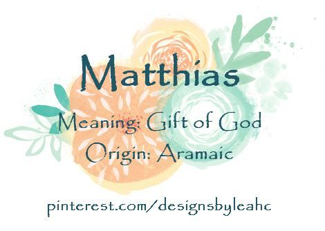 The 25 best boy nicknames ideas on pinterest names with baby boy name matthias meaning gift of god origin aramaic negle Gallery