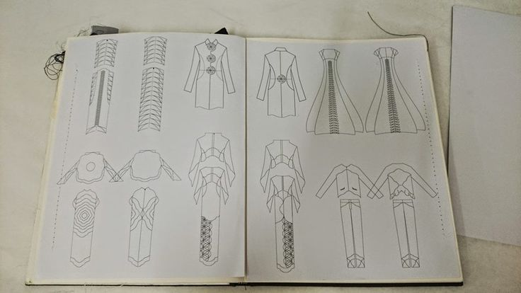 fashion illustration on display at Grafton Academy Culture Night 2014 event