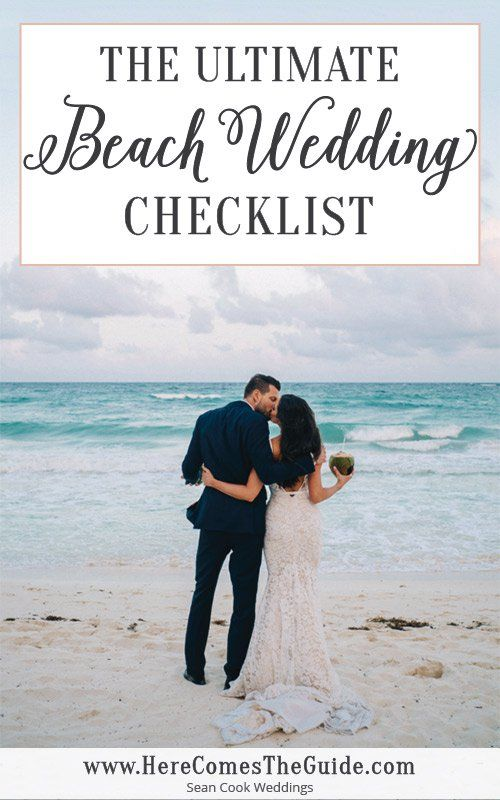 The Ultimate Beach Wedding Checklist Beach Wedding Ceremonies Receptions on the Sand