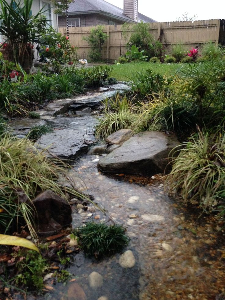 1000 images about rain gardens dry river rock gardens on for Rock garden bed ideas