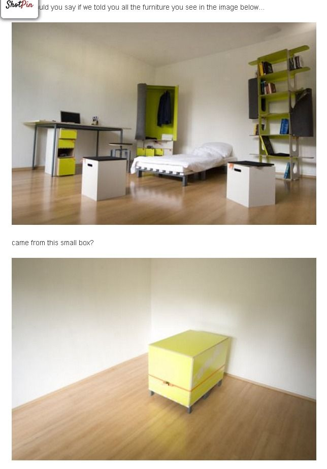 intelligent space saving furniture that would be ideal for small space  living