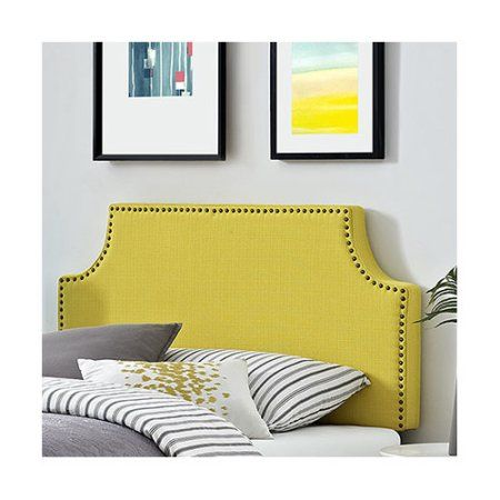 Modway Laura Twin Upholstered Headboard, Multiple Colors, Yellow