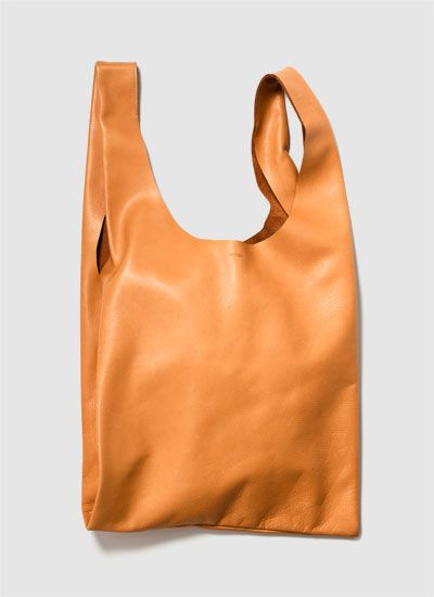 leather baggu - want + need: Mom Gifts, Small Leather, Baggu Leather, Leather Baggu, Leather Totes, Apricot Leather, Media, Leather Bags, Medium Leather