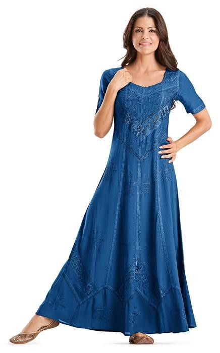 Alexis Empire Waist Renaissance Gothic Embroidered Dress Gown