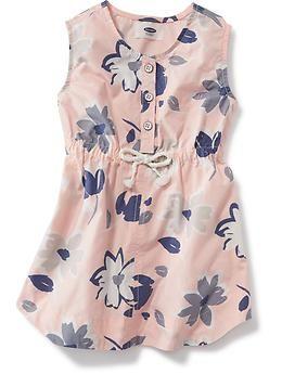 Poplin Popover Dress for Baby | Old Navy