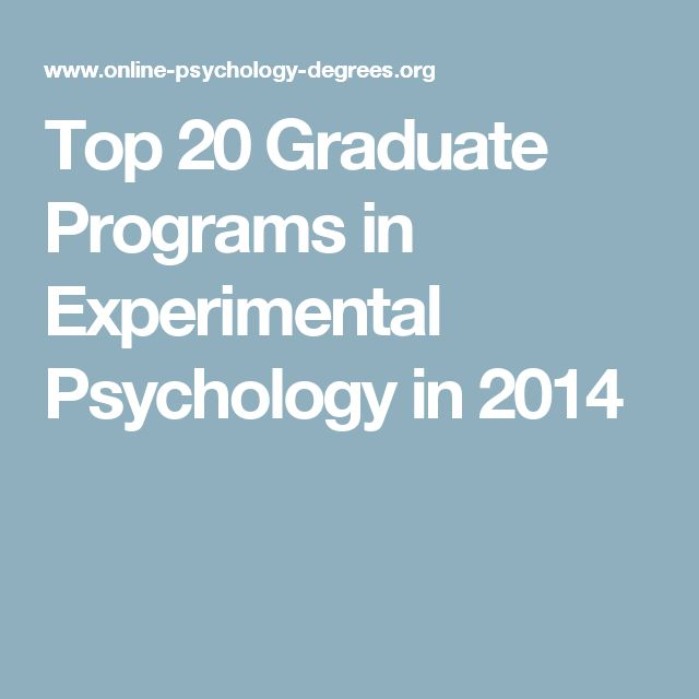 psychology research programs