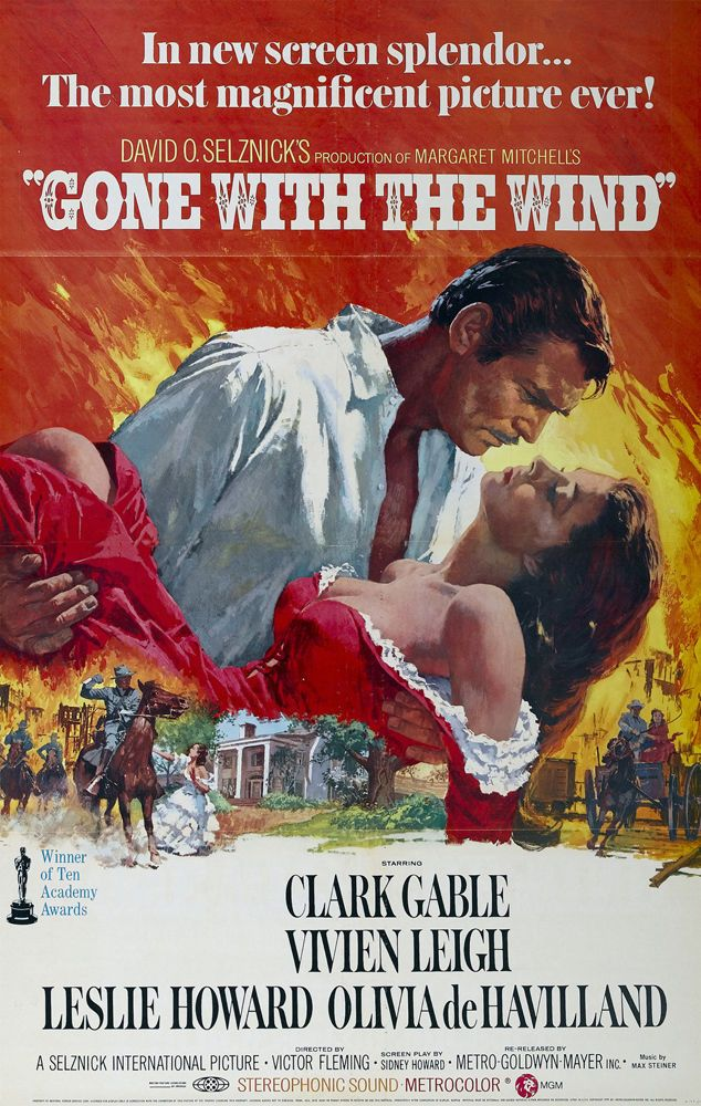 """24/""""x36/"""" Giclee on Canvas Classic Movie Poster Gone with the Wind"""